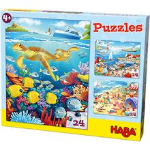 Puzzleset 3 x 24 Teile - Am Meer