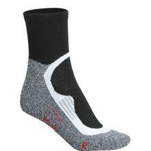 James & Nicholson Unisex Sportsocken Sport Socks Short 3er Pack schwarz (black) 45-47