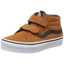 Vans Unisex-Kinder Sk8-Mid Reissue V Sneaker - Mehrfarbig (Suede/Glazed Ginger/Black) - 34.5 EU (2.5 UK)