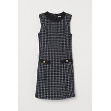 H & M - Bouclé dress - Blue - Damen