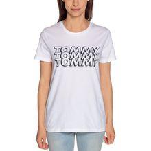 Tommy Hilfiger T-Shirt in weiss für Damen