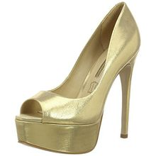 Buffalo London Damen ZS 5666-15 Aqua Metal Pumps, Gold (Gold 01), 37 EU