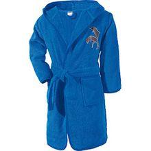 Kinderbutt Bademantel blau Größe 122/128