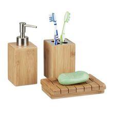 """3-tlg. Bad-Accessoire Set """"Bambus"""" natur"""