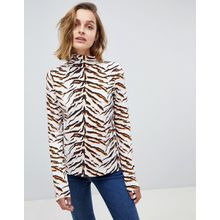 MiH Jeans - Polohemd mit Tigermuster - Mehrfarbig