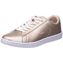 Lacoste Damen Carnaby Evo 118 7 SPW Sneaker, Beige (Nat/WHT), 35.5 EU