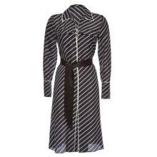 Karl Lagerfeld Gestreiftes Hemdblusenkleid aus Seide