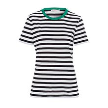 armedangels Damen T-Shirt Aus Tencel®-Mix - LIDA Bold Stripes - M White-Black