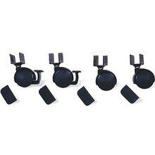 Rollensatz mit U-Aufnahme, 4-tlg., Schwarz schwarz