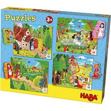 Puzzles 4 x 15 Teile Märchenland