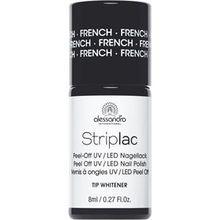 Alessandro Make-up Striplac Peel-Off UV / LED Nagellack Striplac French Nail Tip Whitener 8 ml