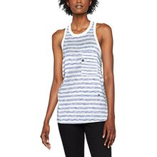 G-STAR RAW Damen T-Shirt Ostali Stripe R Wmn Tanktop, Mehrfarbig (White/Sartho Blue Stripe 8260), X-Small