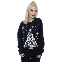Star Wars Damen Christmas Tree Sweatshirt X-Small Deep Navy
