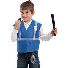 Polizei-Set (Weste, Handschellen, Pfeife, Gummiknüppel, Abzeichen), 5-tlg. Jungen Kinder