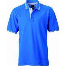 James & Nicholson Herren Poloshirt Poloshirt Men's Lifestyle blau (cobalt/off-white) Small