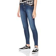 Cheap Monday Damen Skinny Jeans High Spray Dim Blue, Blue (Dim Blue), W32