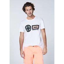 CHIEMSEE T-Shirt Frontprint im PlusMinus-Design - GOTS zertifiziert weiß-kombi Herren