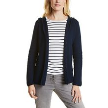 Cecil Damen Strickjacke 252635 Maike, Blau (Deep Blue 10128), Large
