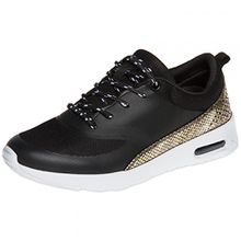Caspar SSN004 Damen Sneaker, Farbe:Schwarz;Größe:EU39/UK6/US8