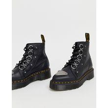 Dr Martens - Farylle - Robuste, schwarze Lederstiefel mit Schleife - Schwarz