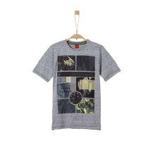 S.Oliver Junior T-Shirt taubenblau / mischfarben