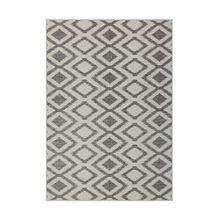 Kayoom MUSTER GRAU TEPPICHE OUTDOOR AZTEKEN DESIGN TEPPICH ELFENBEIN, Größe:200cm x 290cm