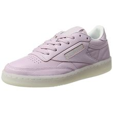Reebok Damen Club C 85 on The Court Sneaker, Rosa, 36 EU