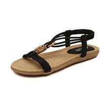 Eagsouni Damen Sandalen Flach Zehentrenner Riemchen Sandaletten Sommer Schuhe