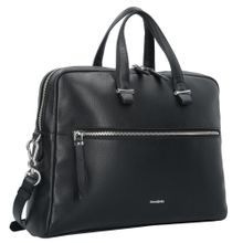 SAMSONITE Highline II Aktentasche Leder 39 cm Laptopfach schwarz