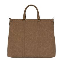 Silvio Tossi Lederhandtasche mit Marken-Prägung Handtaschen braun Damen