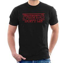 Friends Dont Lie Stranger Things Font Men's T-Shirt