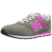 New Balance Unisex-Kinder Gc574v1g Sneaker, Grau (Grey/Pink), 38.5 EU
