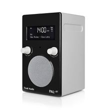 Tivoli Audio - Pal+ BT inkl. Fernbedienung, glänzend schwarz / weiß