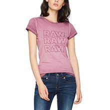 G-STAR RAW Damen T-Shirt Epzin Slim R T Wmn S/S, Violett (Maroon 671), Medium