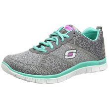 Skechers Flex Appeal Tribeca, Damen Sneakers, Grau (CCTQ), 37 EU