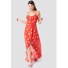 Trendyol Button Detailed Midi Dress - Red