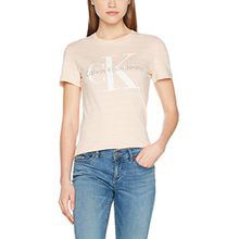 Calvin Klein Jeans Damen Regular Fit T-Shirt TANYA-37 True Icon CN LWK S/S, Orange (Peach), X-Small