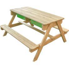 Dual Sitzgruppe mit Sand- und Wasserspieltisch braun