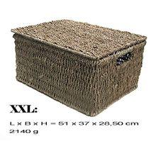 Kasten Aufbewahrung Korb mit Deckel Seegrass (XXL)