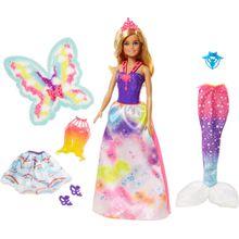 Barbie Dreamtopia 3-in-1 Fantasie Puppe Geschenkset