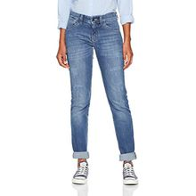 MAC Damen Straight Jeans Carrie Pipe, Blau (Authentic Demage + Patch D638), W40/L32