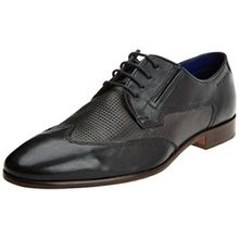 Bugatti Herren 311419021011 Derbys, Schwarz (Black/Grey), 43 EU