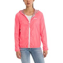 Bench Damen Regenjacke Core Easy Windbreaker, Rosa (Neon Pink Pk11482), X-Large (Herstellergröße: XL)