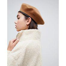 Kangol - Monty - Baskenmütze aus Wolle im Militäry-Look - Braun