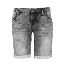 Sublevel Damen Sweat Bermuda-Shorts I Kurze Hose für Frauen in Jeansoptik und Used-Look grey L
