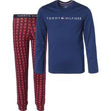 Schlafanzug  blau/rot Jungen Kinder