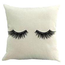 Sleeping Wimper Kissen, H. Eternal Home Dekoration Sofa Taille Überwurf Kissen Fall Baumwolle Leinen Kissenbezug 45,7x 45,7cm E_#05