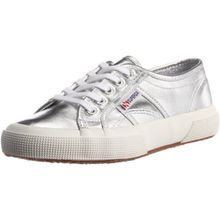 Superga 2750 Cotmetu, Damen Sneakers, Silber (031), 41 EU (8 Damen UK)