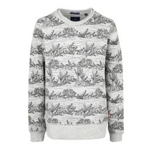 TOM TAILOR Sweatshirt mit Alloverprint grau