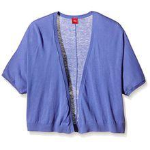 s.Oliver Mädchen Strickjacke Poncho - Cape, Gr. 176 (Herstellergröße: XL), Blau (blue 5555)